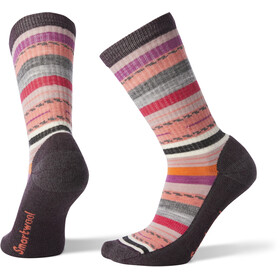 Smartwool Hike Light Margarita Crew Socks Women Bordeaux